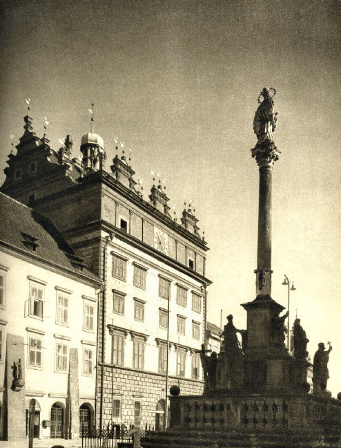 Plague Column - Morový Sloup in 1950s