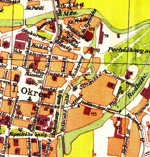 1912 map showing the water system