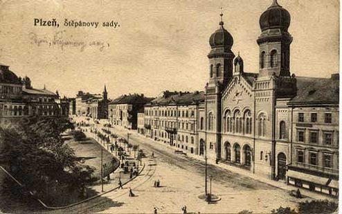 The Great Synagogue, Plzeň circa 1900